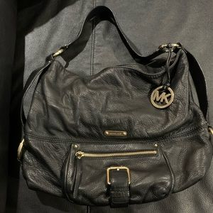 Michael Kors Black Leather Pocketbook
